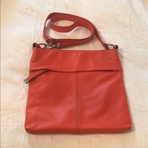 TIGNANELLO Large Leather Coral Crossbody Bag